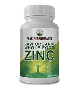 Raw organic whole food Zinc