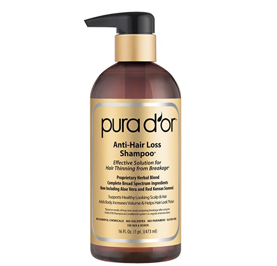 prevent hair loss naturally with pura d'or products