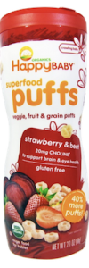 Happy baby organic snack puffs